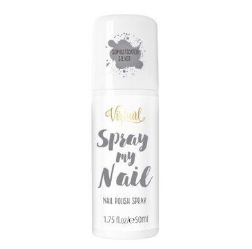 Virtual Spray My Nail Lakier do paznokci w sprayu Sophisticated Silver 50 ml