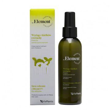 Vis Plantis Element Wyciąg z Kiełków Rzeżuchy Spray ochronny UV do włosów przeciw zanieczyszczeniom  150ml