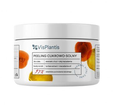 Vis Plantis – Herbal Vital Care Peeling cukrowo-solny do ciała Ekstrakt z Liczi + Olej Macadamia  (200 ml)