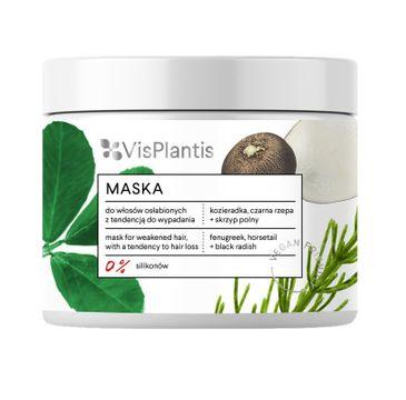Vis Plantis Vegan Friendly Maska do włosów osłabionych i wypadających-Kozieradka,Skrzyp i Rzepa 400ml