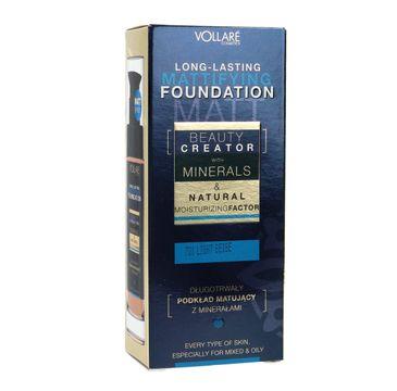 Vollare Beauty Creator długotrwały podkład matujący z minerałami nr 701 Light Beige 30 ml