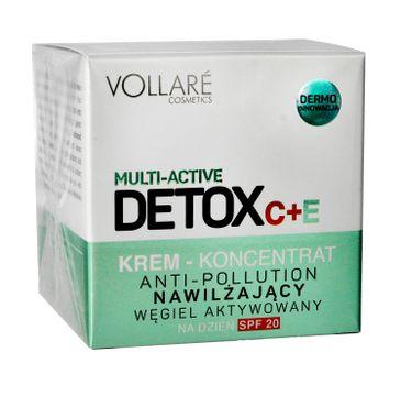 Vollare Cosmetics – Detox C + E Krem-koncentrat nawilżający na dzień SPF20 (50 ml)