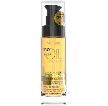 Vollare Cosmetics Pro Oils Intensive Repair serum do włosów suchych i zniszczonych argan oil 30 ml