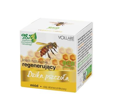 Vollare – Dzika Pszczoła Krem do twarzy regenerujący Miód-Olej Słonecznikowy (50 ml)