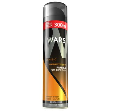 Wars Classic pianka do golenia dla mężczyzn energetyzująca 300 ml