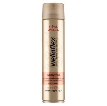 Wella Wellaflex Hydro Style Hairspray lakier do włosów 4 Extra Strong Hold (250 ml)