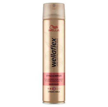 Wella Wellaflex Style & Repair Hairspray lakier do włosów 3 Strong Hold (250 ml)