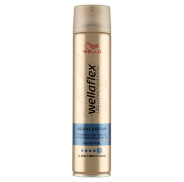Wella Wellaflex Volume & Repair Hairspray lakier do włosów 5 Ultra Strong Hold (250 ml)