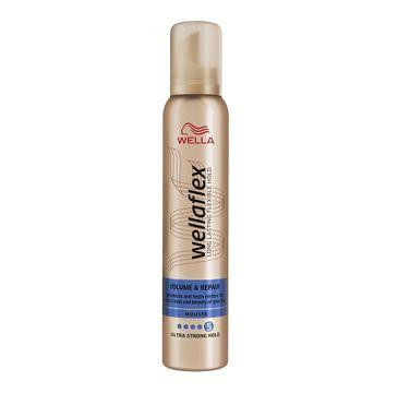 Wella Wellaflex Volume & Repair Mousse pianka do włosów 5 Ultra Strong Hold (200 ml)