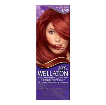 Wella  Wellaton Intense Permanent Color krem intensywnie koloryzujący 8/45 Czerwień Kolorado 1szt