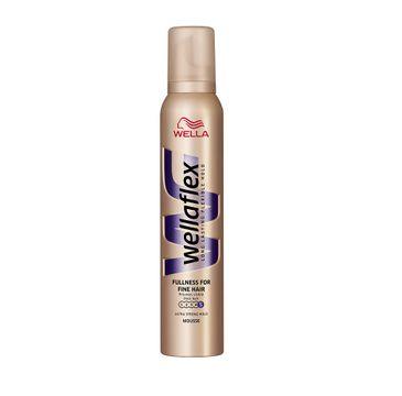 Wella  Wellaton Wellaflex Long Lasting Flexible Hold Fullness For Fine Hair Mousse mocno utrwalająca pianka do włosów 5 Utra Strong Hold 200ml