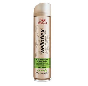 Wella  Wellaton Wellaflex Long Lasting Flexible Hold Hairspray maksymalnie utrwalający lakier do włosów 5 Ultra Strong 400ml
