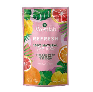 Westlab Refresh Bath Salts odświeżająca sól do kąpieli Różowy Grejpfrut & Trawa Cytrynowa & Algi (454 g)