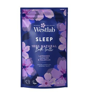 Westlab Sleep Bath Salts uspokajająca sól do kąpieli Lawenda & Jaśmin & Waleriana (454 g)