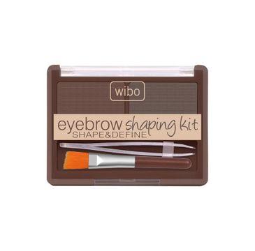 Wibo Shape&Define Eyebrow Shaping Kit zestaw do stylizacji brwi Dark