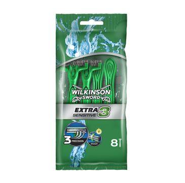 Wilkinson Extra3 Sensitive jednorazowe maszynki do golenia dla mężczyzn (8 szt.)