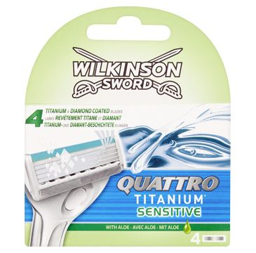 Wilkinson Quattro Titanium Sensitive zapasowe ostrza do maszynki do golenia dla mężczyzn (4 szt.)