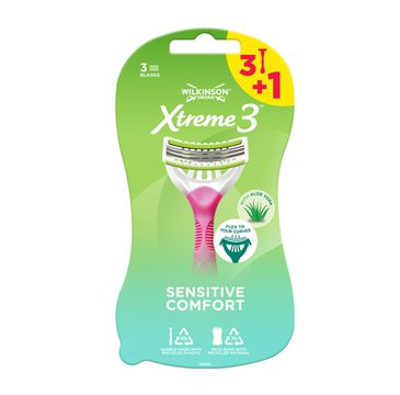 Wilkinson Xtreme3 Sensitive Comfort jednorazowe maszynki do golenia dla kobiet (4 szt.)