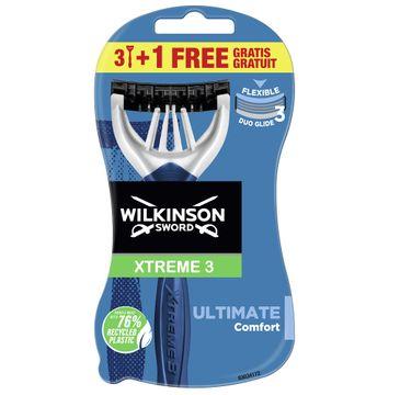 Wilkinson Xtreme3 Ultimate Plus jednorazowe maszynki do golenia dla mężczyzn (4 szt.)
