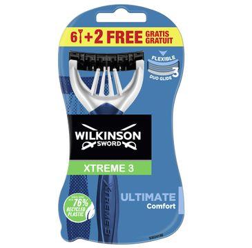 Wilkinson Xtreme3 Ultimate Plus jednorazowe maszynki do golenia dla mężczyzn (8 szt.)