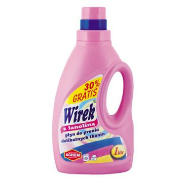 Wirek płyn do prania z lanolina do delikatnych tkanin o pojemności (1000 ml)