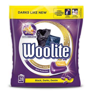 Woolite Black Darks Denim kapsułki do prania do tkanin ciemnych z keratyną 28szt
