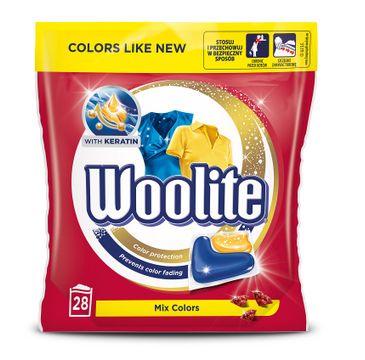 Woolite Mix Colors kapsułki do prania ochrona koloru z keratyną 28szt