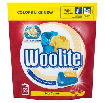 Woolite Mix Colors kapsułki do prania ochrona koloru z keratyną 35szt