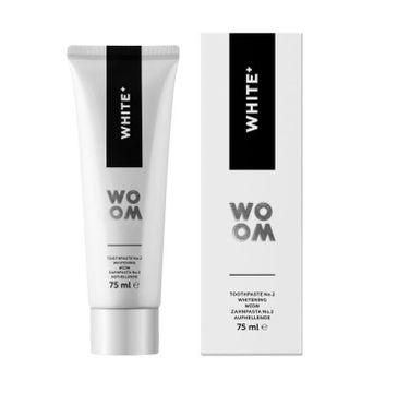 Woom White+ wybielająca pasta do zębów odświeżająca oddech (75 ml)