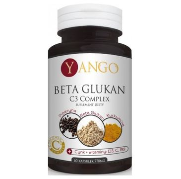 Yango Beta-Glukan C3 Complex 778mg suplement diety 60 kapsułek