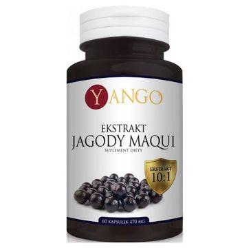 Yango Ekstrakt z Jagody Maqui 470mg suplement diety 60 kapsułek