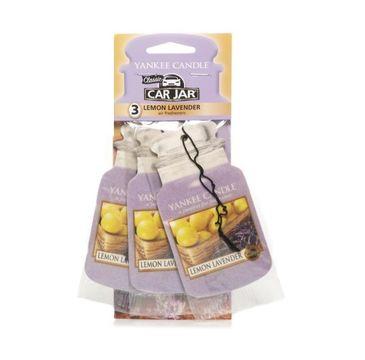 Yankee Candle Car Jar Bonus Pack zestaw zapachów samochodowych Lemon Lavender 3sztuki