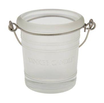 Yankee Candle Glass Bucket świecznik wiaderko szronione 1szt