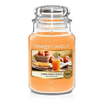 Yankee Candle Świeca zapachowa duży słój Farm Fresh Peach (623 g)
