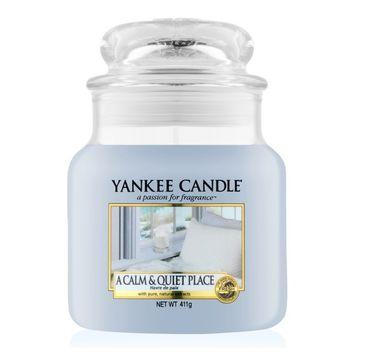 Yankee Candle Świeca zapachowa średni słój A Calm & Quiet Place 411g