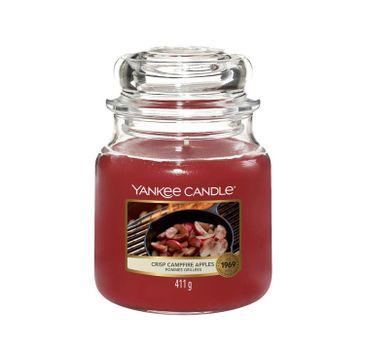 Yankee Candle – Świeca zapachowa średni słój Crisp Campfire Apples (411 g)