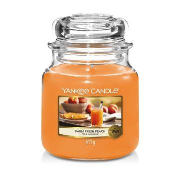 Yankee Candle Świeca zapachowa średni słój Farm Fresh Peach (411 g)