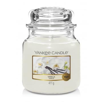 Yankee Candle świeca zapachowa średni słój Vanilla (411 g)