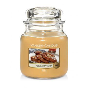 Yankee Candle – Świeca zapachowa średni słój Vanilla French Toast (411 g)