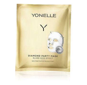 Yonelle – Diamond Party Mask Diamentowa Maska Bankietowa w Płacie (1 szt.)