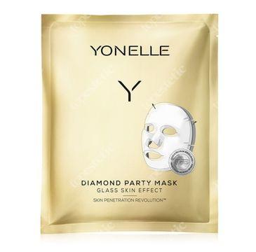 Yonelle – Diamond Party Mask diamentowa maska bankietowa (3 szt.)