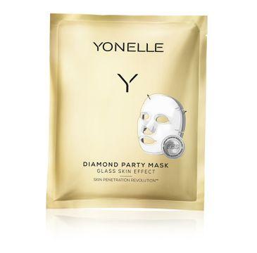 Yonelle Diamond Party Mask – diamentowa maska bankietowa (3 szt.)