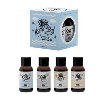 Yope – zestaw kosmetyków podróżnych – szampon + odżywka + żel pod prysznic + balsam do ciała (4 x 40 ml)