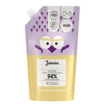Yope – Naturalne Mydło do rąk dla dzieci - JAŚMIN - zapas (400 ml)
