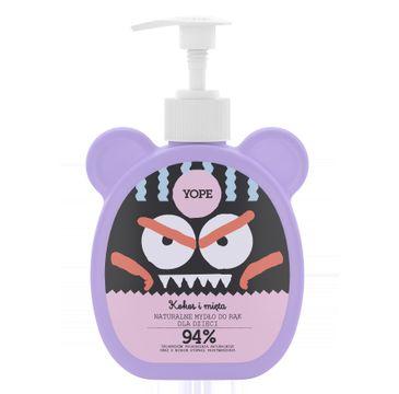 Yope – naturalne mydło do rąk dla dzieci Kokos i Mięta (400 ml)