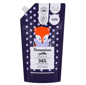 Yope – Naturalny Żel pod prysznic dla dzieci - JABŁKO i POMARAŃCZA - zapas (400 ml)