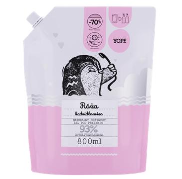 Yope – żel pod prysznic Róża i Kadzidłowiec – zapas (800 ml)