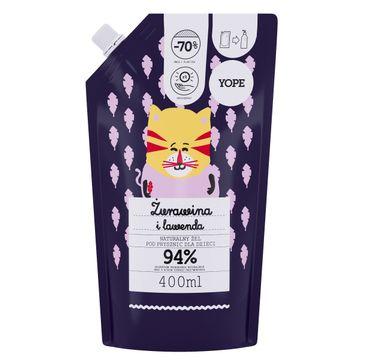 Yope – Naturalny Żel pod prysznic dla dzieci - ŻURAWINA i LAWENDA - zapas (400 ml)