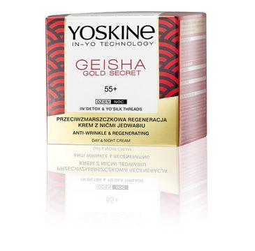 Yoskine Geisha Gold Secret krem dzień i na noc z nićmi jedwabiu 55+ (50 ml)