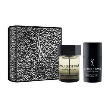 Yves Saint Laurent – La Nuit De L'Homme zestaw woda toaletowa spray 100ml + dezodorant sztyft 75ml (1 szt.)